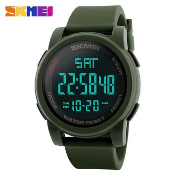 Men Sports Watches Double Time Countdown Military Watch Waterproof Digital Wristwatches Clock