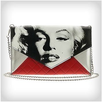 Marilyn Monroe Quilted Chain Envelope Wallet - Spencer's