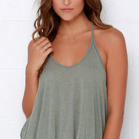Project Social T Little Rascal Olive Green Tank Top