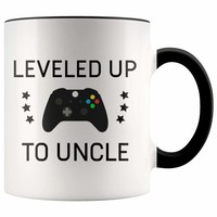 Don't miss out on this - Personalized New Uncle Gift: Leveled Up To Uncle Coffee Mug