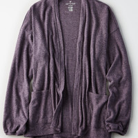 AE SOFT & SEXY PLUSH BALLOON SLEEVE CARDIGAN, Purple