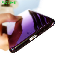FLOVEME Case For iPhone 7 6 6S Plus Luxury Aurora Gradient Color Transparent Case For iPhone 7 6 6S light Cover Hard PC Coque
