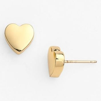 kate spade new york 'be mine' heart stud earrings | Nordstrom
