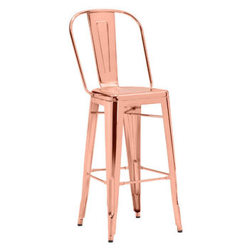 ELIO BAR CHAIR ROSE GOLD PACK OF 2