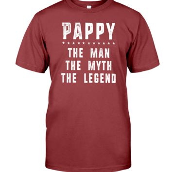 Pappy The Man The Myth The Legend Grandpa Gift Ideas Father's Day Men T-shirt