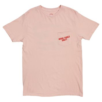 Good Times Only Gator, Pink Pocket Tee, Graphics on front & back by Altru Apparel