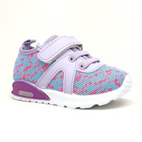 Toddler Girl Purple Sneaker with Light