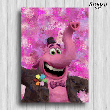 inside out bing bong disney poster kids decor