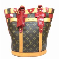 Auth Louis Vuitton Monogram Neo Bucket Shoulder Bag Brown M95613