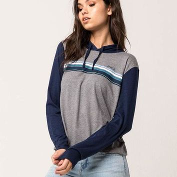RVCA Multi Stripe Womens Hooded Tee