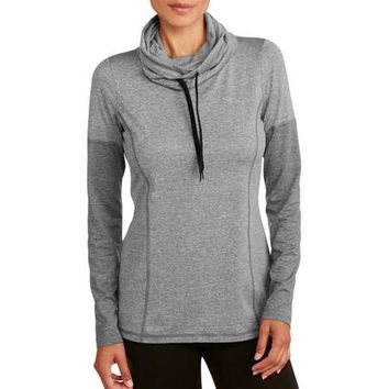 Danskin Now Women's Long Sleeve Cowlneck Pullover - Walmart.com