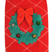 Christmas Wreath Holiday Dog Sweater