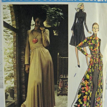 Vintage Vogue Couturier sewing Pattern Design by Jean Muir 2646 evening dress Uncut 1970s