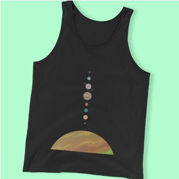 Space Solar System Space Art Nursery Adventure Awaits Men'S Tank Top