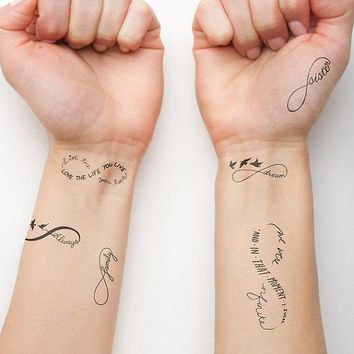 Infinity Symbol Set   Temporary Tattoo (set Of 6)