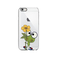 Cute Frog Pattern Transparent Silicone Plastic Phone Case for iphone 6PLUS _ LOKIshop (iphone 6 plus)