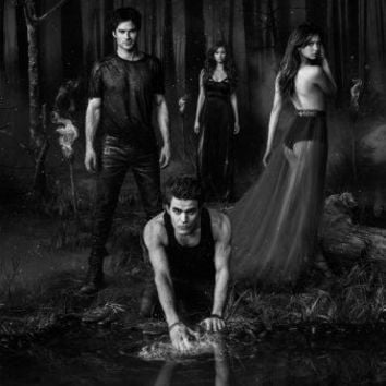 "Vampire Diaries Poster Black and White Mini Poster 11""x17"""