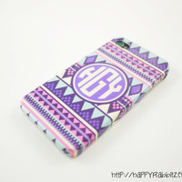 Personalized Aztec iphone 4 Case, Monogram, Custom iphone 4s Case, Cover, Tribal Geometric iphone 4 Case - Monogrammed iphone case