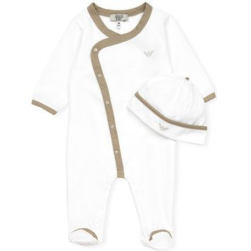 Armani Baby Onesuit & Hat Gift Set