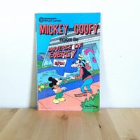 Mickey and Goofy Explore the Universe of Energy {1985} Vintage Comic Book