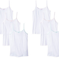 6-Pack White Camisole Undershirt 100% Combed Cotton