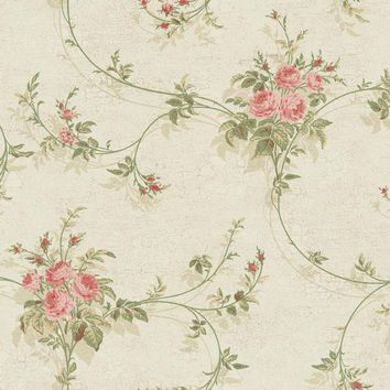 York GD5475 York Wallcoverings Rose Trail Wallpaper