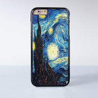 Starry Starry Night Plastic Case Cover for Apple iPhone 6 6 Plus 4 4s 5 5s 5c