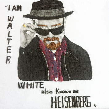 WALTER WHITE HEISENBERG T-SHIRT Painted 3d