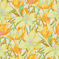 Martha Negley, Farmington, Crocus, Yellow Fabric, Rowan Westminster Fabrics, Designer Cotton Quilt Fabric, Quilting Fabric