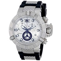 Invicta 14942 Men's Subaqua Noma III Chronograph Silver Dial Steel & Rubber Strap Dive Watch