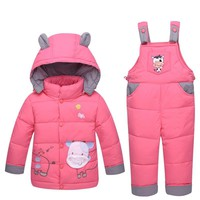Baby Snowsuit Down New Infant Toddler Boys Girls Winter Clothing Sets Snow Wear Jumpsuit Hooded Jacket Girls Outfits LJ53