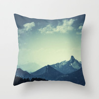 Mountains Throw Pillow by Christian Solf