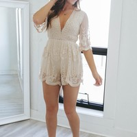 Bold Moves Romper - Cream