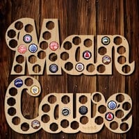Man Cave Beer Cap Map