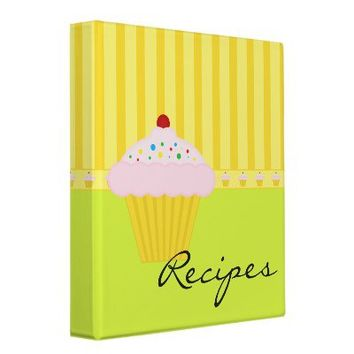 Cupcake Recipes Binder from Zazzle.com