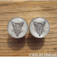 Fox Face Shape-Shifter Plugs - 00g, 7/16, 1/2, 9/16, 5/8, 3/4, 7/8, 1 Inch - CUSTOMIZABLE