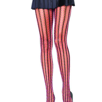 Thorn Net Tights Plus Size