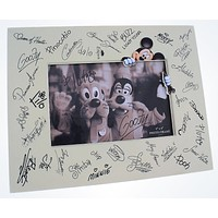 """Disney Parks Character Autographs Signatures Photo Frame 4""""x6"""" New With Box"""