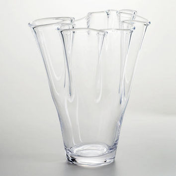 Clear Handkerchief Ruffle Glass Vase from Cost Plus World ... Ruffled Handkerchief Glass Vases Bedford, A