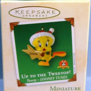 2002 Up to the Tweetop Hallmark Tweety Looney Tunes Miniature Ornament