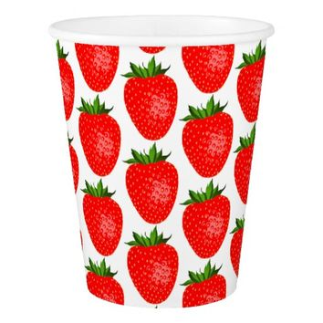 Strawberry World Pattern Paper Cup