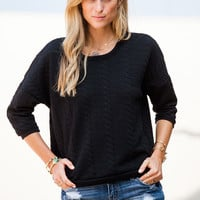 Black Slouchy Sweater