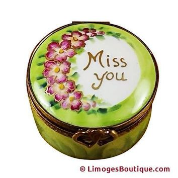 MISS YOU ROUND LIMOGES BOX