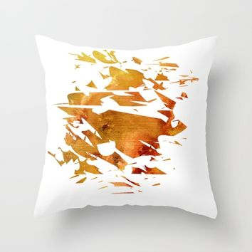 Abstract Acrylic Painting Broken Glass THE CREATION Throw Pillow by Saribelle Inspirational Art | Society6