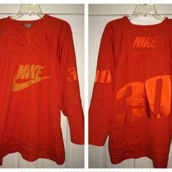 DCCK8X2 Sale!! Vintage NIKE American Football / Hockey Jersey Retro NFL NHL tee shirt