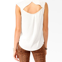 Cutout Back Shirt