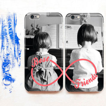 Two Case Set Best Friends Phone Bff Case iPhone 6 Case Set iPhone 6s Case iPhone 6 Plus Phone 6s Plus Samsung Galaxy Case Double Case CGCC13