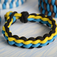 Braided handmade bracelet made of paracord beautiful stylish unisex accessory