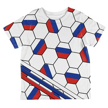 World Cup Russia Soccer Ball All Over Toddler T Shirt