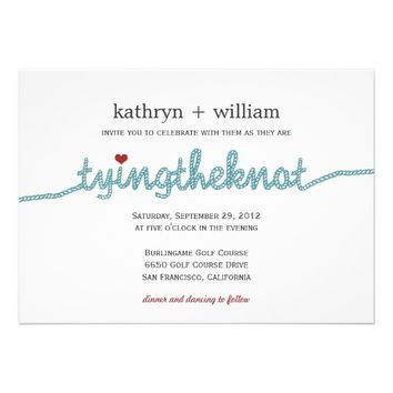 Tying the Knot- Modern Wedding Invitations